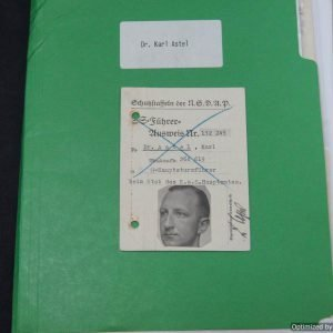 Ausweis and Research file for Dr. Karl Astel SS Standartenfuhrer