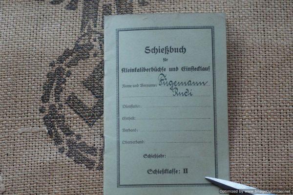 schiebuch (Shooting book) Fugemann 1934