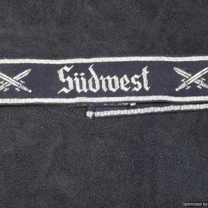 """Reichskriegerbund Cuff Title for """"Sudwest"""""""