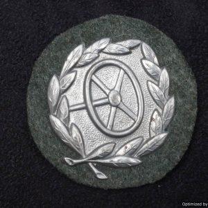 heer drivers badge in silver