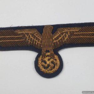 Kriegsmarine Officers breast eagle in Bullion