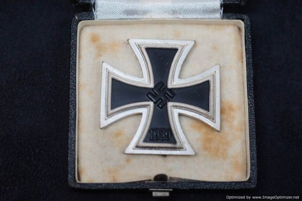 Cased Non magnetic Iron Cross 1st class by W&L