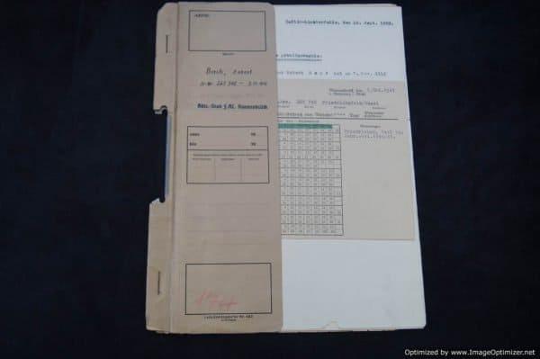 SS Concentration Camp Guard Personnel file Ravensbruck