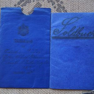 1904 Dated Militarpass protective cover Early soldbuch