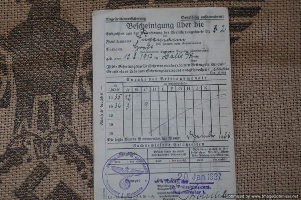 Police Pay Certificates for Rudolf Fugemann