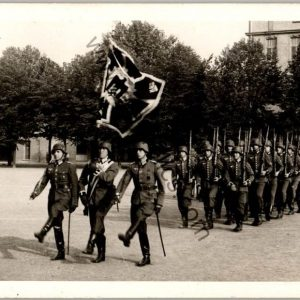 Heer Standarte Marching post card