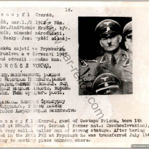 gestapo ID wanted card