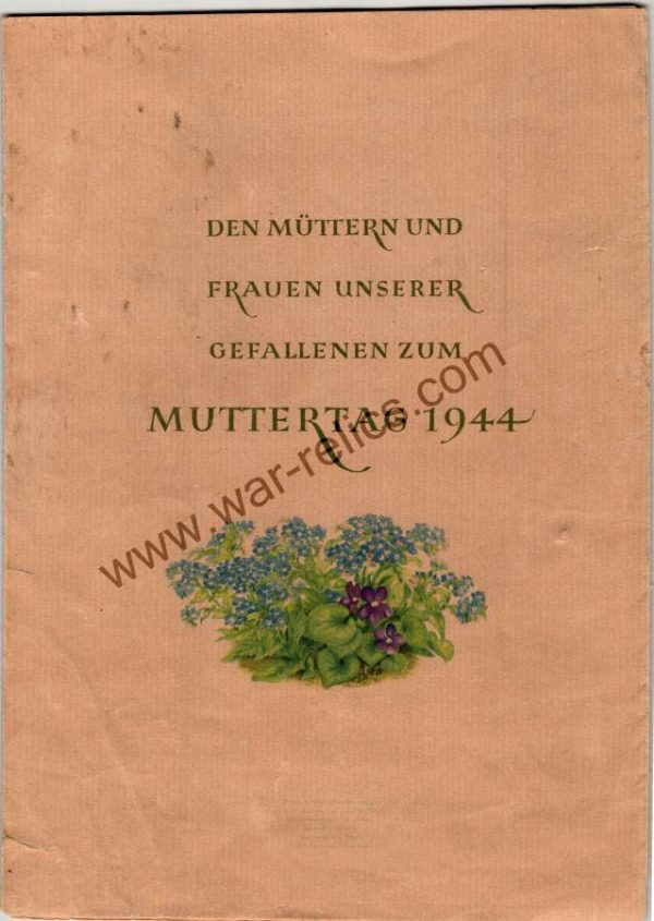 Mothers Day Card for Mothers Of fallen Soldiers (hitler quote)