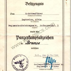 SS Totenkopf & Viking infantry reg. 3 EICKE signature