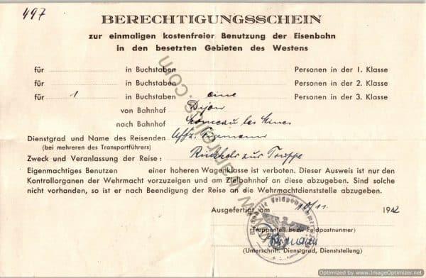 German Railway Free Pass