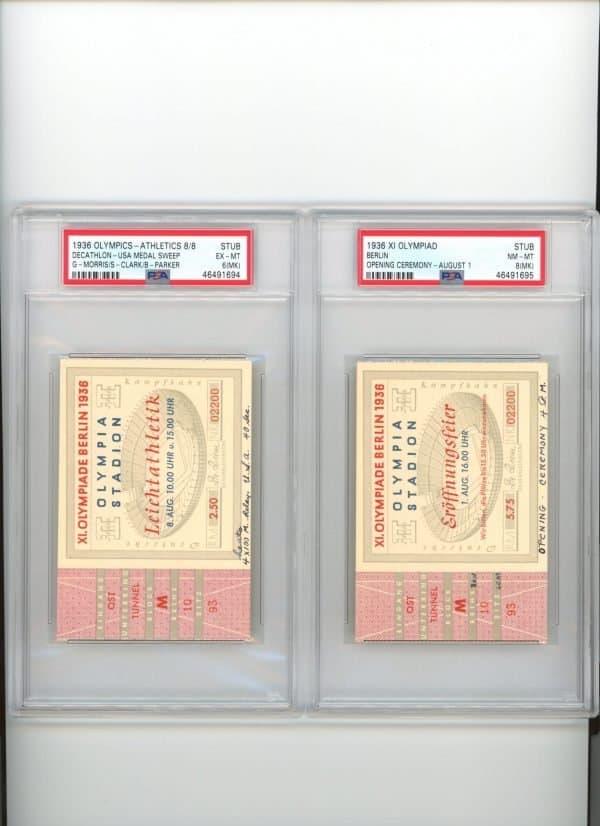 1936 Jesse Owens Olympic Ticket
