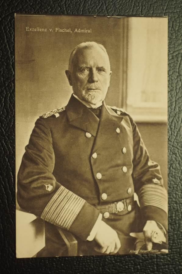 Admiral Fischel WW1 Postcard