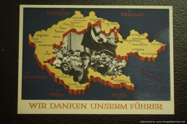Wir Danken Unserm Fuhrer Postcard