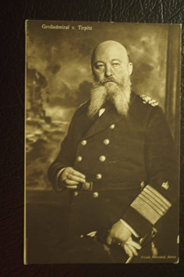 WW1 Grobadmiral V. Tirpitz Postcard