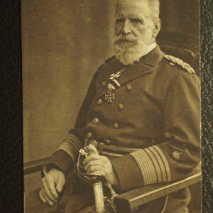 ww1 Admiral Knorr Postcard