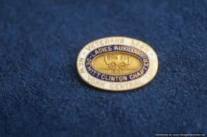US Ladies Veteran Auxiliary pin NY central lines