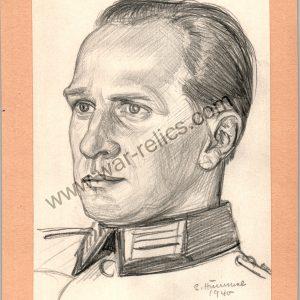Heer Officer Portrait in Pencil (Dr. Heveling)