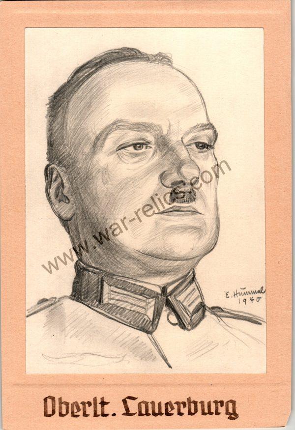 Heer Officer Portrait in Pencil