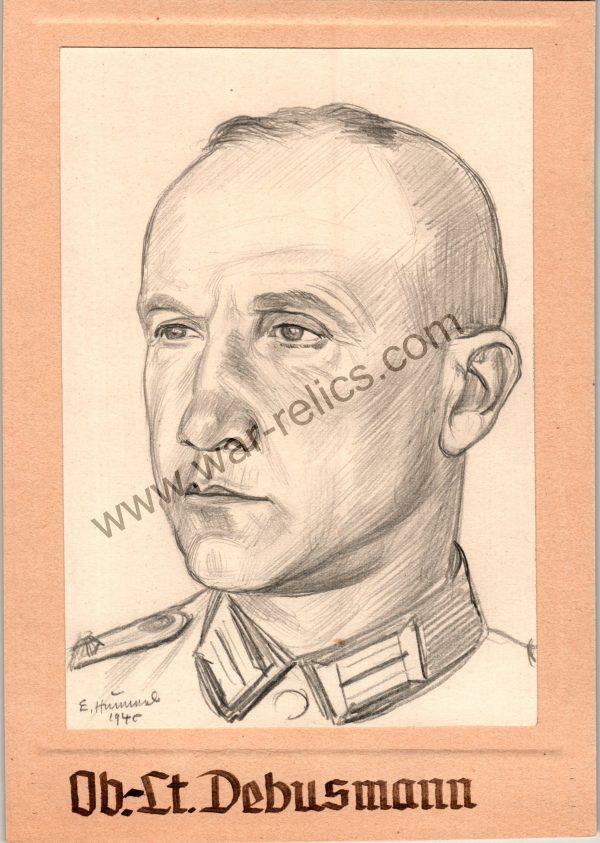 Officer Portrait in Pencil (Debusmann)