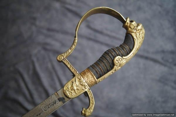 Tripled Etched Justice Official Sword w/Dedication by Paul Weyersberg