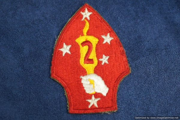 SMGL-2901 US ww2 era Second Marine division Patch
