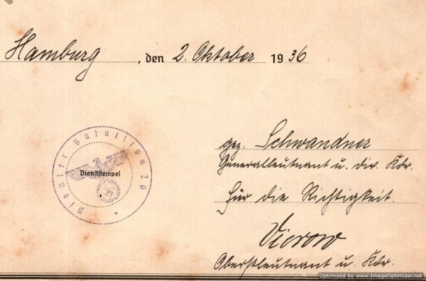 signed by Major General Walter Vierow