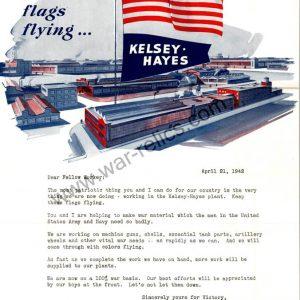 "SMGL-2925 Kelsey-Hayes Wheel Company Propaganda Memo ""Flags"""