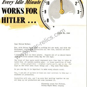 "SMGL-2926 Kelsey-Hayes Wheel Company Propaganda Memo ""Idle Minute"""