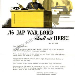 "Kelsey-Hayes Wheel Company Propaganda Memo ""War Lord"""