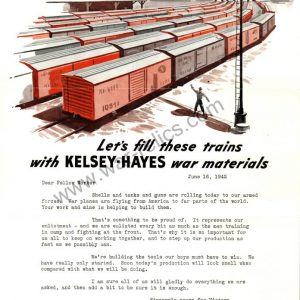 "Kelsey-Hayes Wheel Company Propaganda Memo ""Trains"""