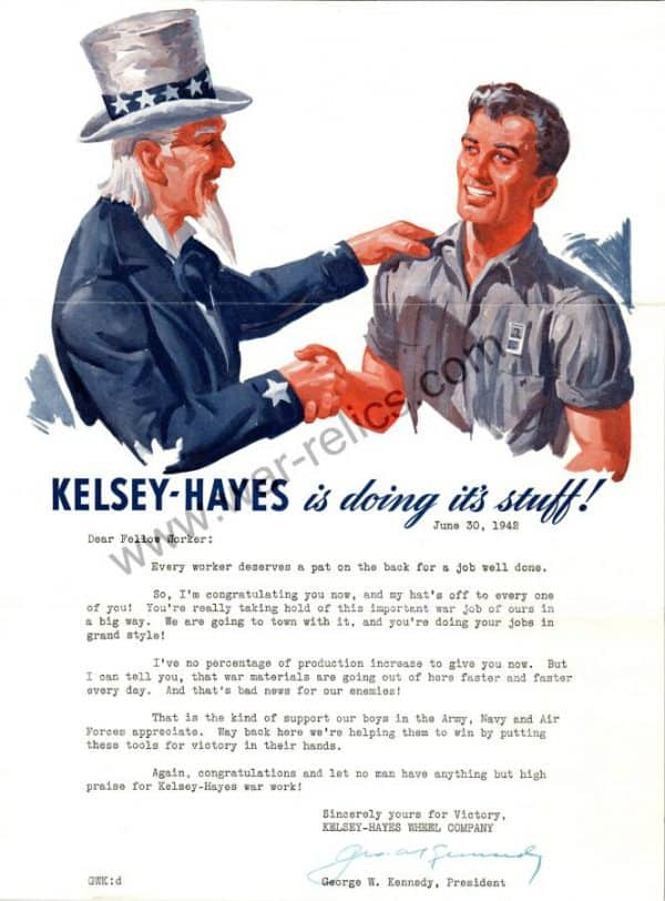 "Kelsey-Hayes Wheel Company Propaganda Memo ""Stuff"""