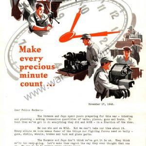 "Kelsey-Hayes Wheel Company Propaganda Memo ""Clock"""