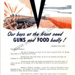 "Kelsey-Hayes Wheel Company Propaganda Memo ""Guns & Food"""