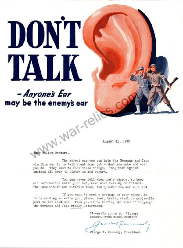 "Kelsey-Hayes Wheel Company Propaganda Memo ""EAR"""