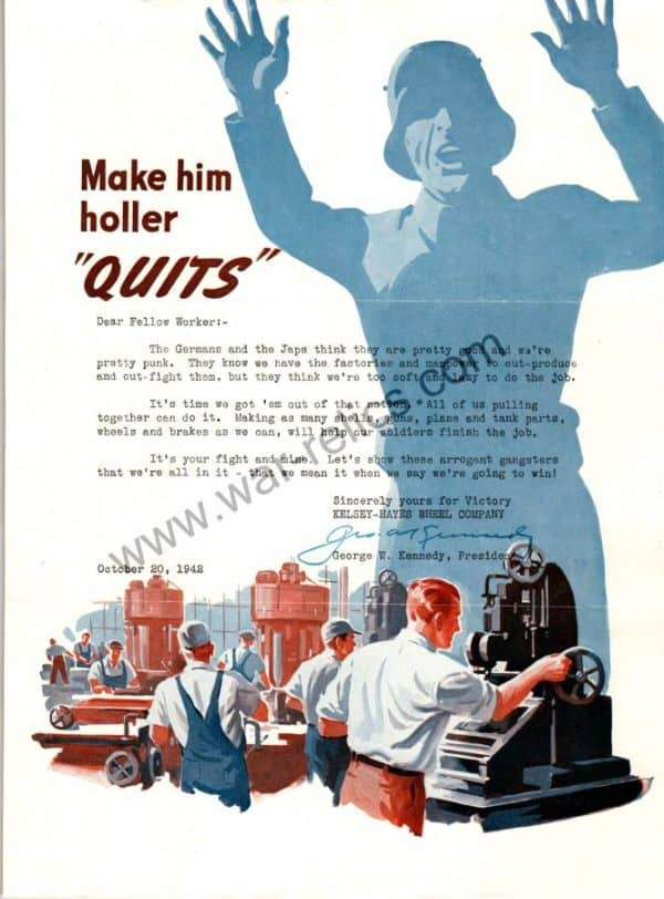 "SMGL-2914 Kelsey-Hayes Wheel Company Propaganda Memo ""Quits"""