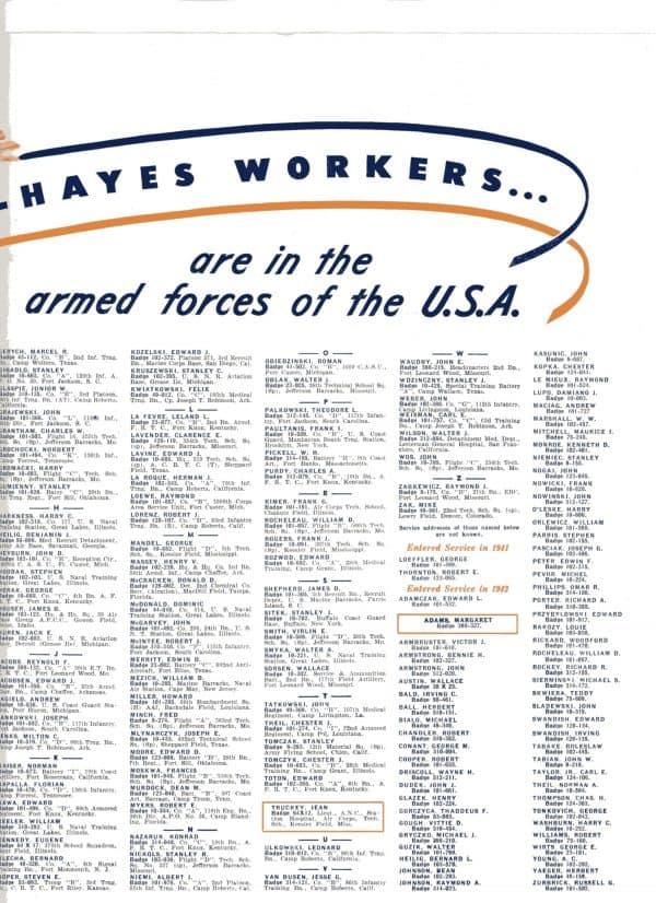 SGM-1332 Kelsey Hayes Bi Fold List of active duty Service Members