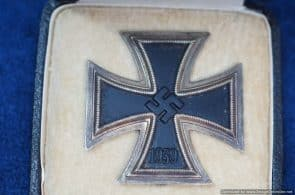 SGML-1369 Cased Iron Cross 1st Class by Otto Schickle Souval Type