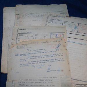 SGML-1394 Assorted WW2 era German Munitions Documents 7pc
