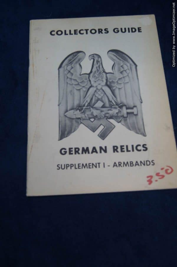 SGML-1402 Collectors guide German Relics Supplement 1 Armbands