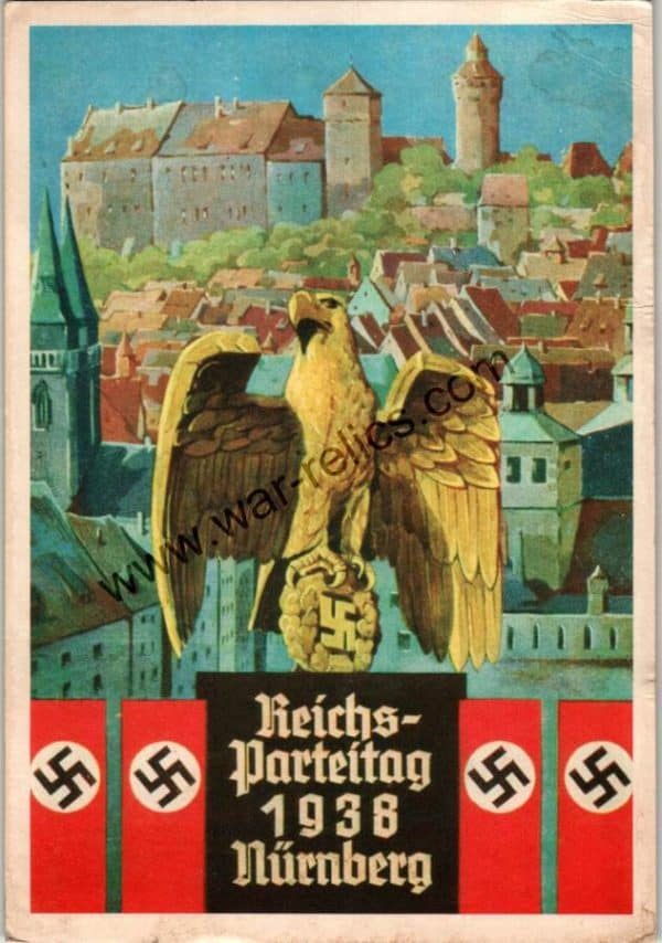 SGML-1375 Reichs- Parteitag 1938 Nurnberg Postcard