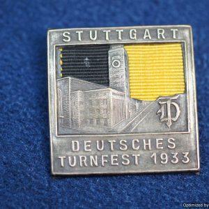 SGML-1425 Deutsches Turnfest stuttgart 1933 Event badge