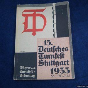 Deutsches Turnfest stuttgart 1933 Leader Book