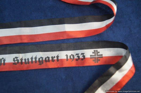 Deutsches Turnfest Stuttgart 1933 Ribbon