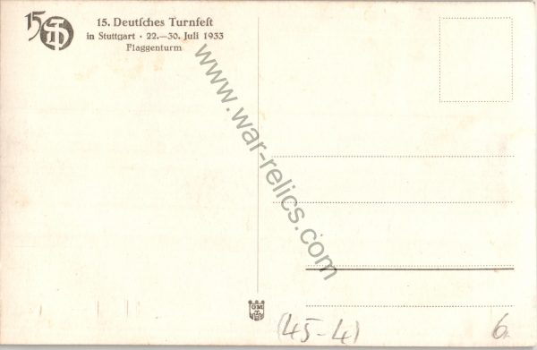 SMGL-1443 Turnfest 1933 Post card #467
