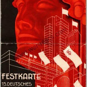 Turnfest 1933 Athlete ticket/pass Festkarte