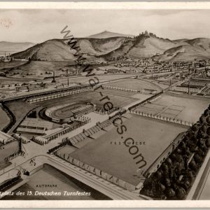 SMGL-1444 Turnfest 1933 Post card Arial Grounds view