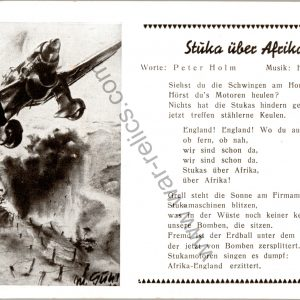 SMGL-1442 Stuka Uber Afrika! Post card