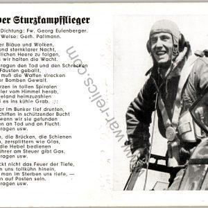 SMGL-1437 Stuka pilot Post card George Eulenberger